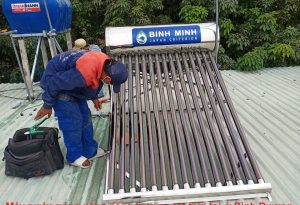 Máy nước nóng năng năng lượng mặt trời tại ở Bình Dương