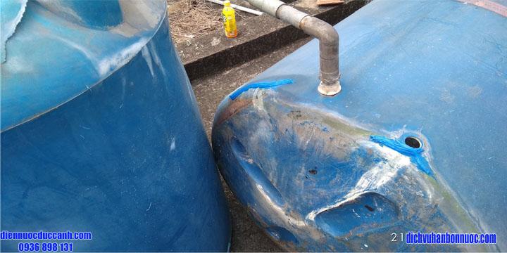 cách hàn bồn nước nhựa bị rò rỉ